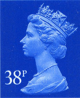 38p Cheap GB Postage Stamp